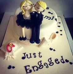 Just engaged- engagement cake- nişan pastası