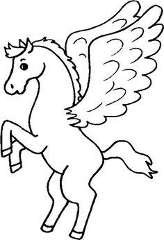 Resultado de imagen para pegaso dibujo animado Horse Coloring Pages, Colouring Pics, Coloring Sheets, Popsicle Stick Crafts, Craft Stick Crafts, Popsicle Sticks, Applique Quilts, Colorful Pictures, Painted Rocks