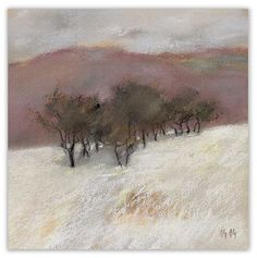 soft pastel on Canson paper, 50x50cm. In Nature, Scenery. Winter mood, painting by George Oncioiu. Image #99117
