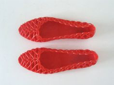 Vintage Red Open Toe Cut Out Jelly Shoes / Sandals / by AmandelOe, $26.00...We can wear these with our dresses @Ginger Jeffries :)