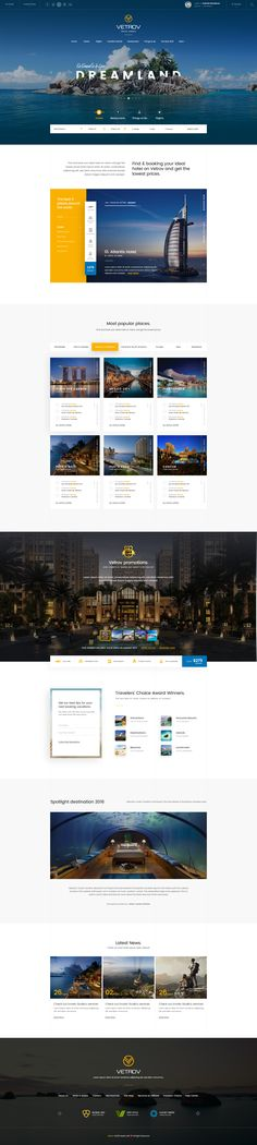다음 @Behance 프로젝트 확인: \u201cVetrov - Hotel, Tours & Travels PSD Template\u201d https://www.behance.net/gallery/42772815/Vetrov-Hotel-Tours-Travels-PSD-Template