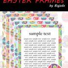 11 FREEBIE Easter frames Clipart  - 5 Color Easter frames Clipart .PNG - 5 Color Easter frames Clipart .JPG - 1 Black&white Easter frames Clipa...