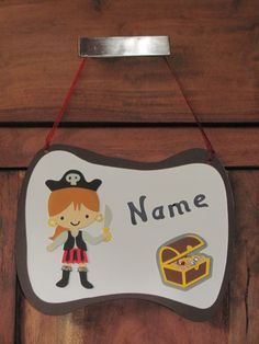 Türschilder - Kinderzimmer Türschild für Mädchen Piratenbraut - ein Designerstück von Wonderful-Paper-Art bei DaWanda