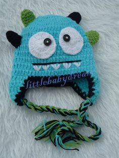 Baby Boy Crochet Blue Monster Outfit Minion Costume Infant Halloween Costumes Baby EL118 on Etsy, $9.99
