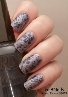 Nail Stamping with Pueen Encore plate SE03B