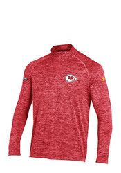 Under Armour KC Chiefs Mens Red NFL Combine 1/4 Zip Performance Pullover