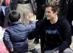 The Hollywood actor, who is a UNICEF goodwill ambassador, visited the registration camp in...