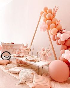 Rainbow Birthday, Girl Birthday, Birthday Parties, 10th Birthday, 3rd Wedding Anniversary, Birthday Balloon Decorations, Boho Theme, Party Planning, Party Time