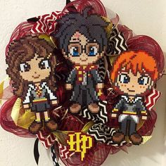 Harry Potter wreath  perler beads by stacyorourke79
