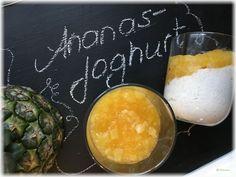 Dessert mal anders: Ananas – Joghurt – Der Foodcoach-Blog Chicken Taquitos, Autoimmune Paleo, Dairy, Gluten Free, Cheese, Food, Pineapple, Yogurt Recipes, Gelee
