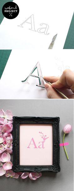 DIY - Customize Papercut Initial  Mr. Yen