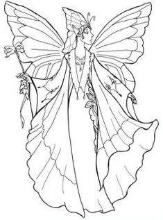 Detailed Coloring Pages for Adults Court Fairy 2 wwwpheemcfaddell