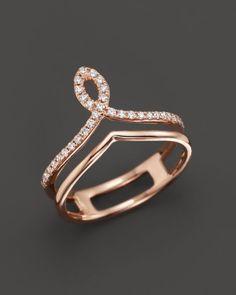 Diamond Midi Ring in 14K Rose Gold, .13 ct. t.w.