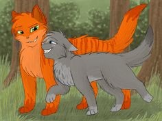 Cinderpaw and Fireheart