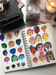 15 Ways to Use Portraits in Your Art Journal (that aren't hard or intimidating!) Like these colorful, more cartoon-like silly portraits. Art Journal Challenge, Art Journal Prompts, Doodle Art Journals, Art Journal Techniques, Art Journal Pages, Art Journaling, Journal Ideas, Art Therapy Projects, Art Therapy Activities
