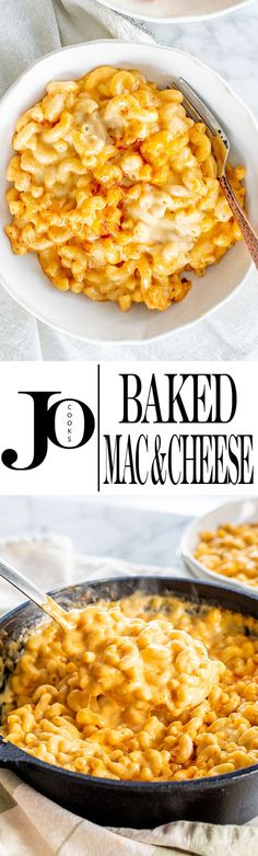 This easy homemade Baked Mac and Cheese recipe is the ultimate classic comfort food. We're talking decadent creamy macaroni with the most incredible cheese sauce. Total soul-food and always a crowd favorite! Baked Mac And Cheese Recipe, Bake Mac And Cheese, Baked Cheese, Cheese Recipes, Delicious Dinner Recipes, Great Recipes, Favorite Recipes, Easy Recipes, Vegetarian Recipes