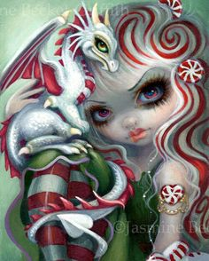 Peppermint Dragonling by Jasmine Becket-Griffith