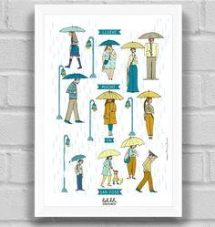Llueve mucho en San José, Poster by Priscilla Aguirre. Holalola Costa Rica