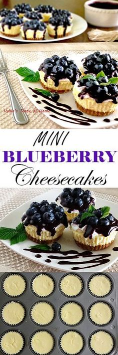 Prepare your mouth to be hugged! This is the best cheesecake recipe I have tried so far. Great turn out and super delicious; just melts in your mouth and leaves you wanting just one more bite. Mini Desserts, Just Desserts, Delicious Desserts, Dessert Recipes, Yummy Food, Best Cheesecake, Baked Blueberry Cheesecake, Mini Cheesecake Recipes, Cheesecake Cups