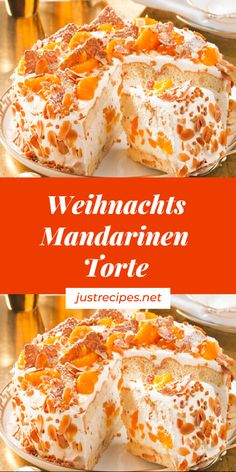 Weihnachts Mandarinen-Torte - Health and wellness: What comes naturally Berry Smoothie Recipe, Easy Smoothie Recipes, Easy Smoothies, Healthy Recipes, Fall Desserts, Christmas Desserts, Homemade Frappuccino, Macaron, Ice Cream Recipes