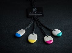 """Stylish handcrafted colons from natural stone """"mini color"""" Collection by Cheche Handmade / cheche.lt"""