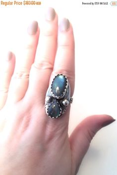 Hey, I found this really awesome Etsy listing at https://www.etsy.com/listing/227933871/on-sale-double-stone-labradorite-ring