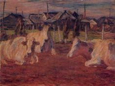 Sakamoto Hanjirō, The Fading Day, 1912
