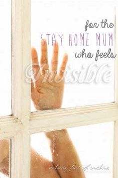 If you've ever felt unseen and unappreciated (or invisible) in your role as a stay at home mom with kids - you have to read this post!