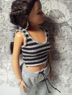 Lammily Doll Outfit / Sweatpants Top In Set / by LammilyOutfits