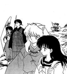 The two main couples of Inuyasha and Shippo. Miroku, Kagome Higurashi, Kirara, Manga Art, Manga Anime, Anime Art, Inu Yasha, Otaku, Kagome And Inuyasha