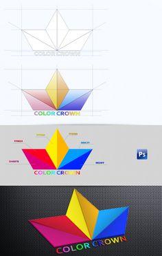 logo color crown by Stanislavv Parushevv, via Behance