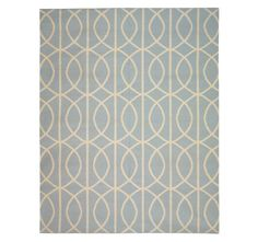 azure and cream rug from Dwell