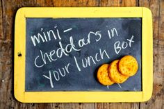 Mini cheddars for lunchboxes