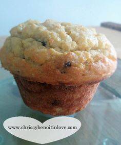 Low carb chocolate chip muffin in a mug