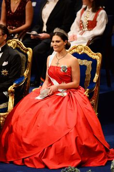 Pin for Later: 44 Reasons Victoria, Crown Princess of Sweden Is the Royal Glamazon You Need to Follow Victoria Knows How to Sit Pretty in a Ball Gown