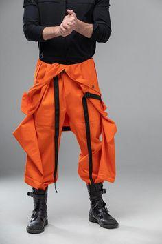 Men mechanic jumpsuit overalls, orange workwear cosplay coverall, one piece long sleeve pantsuit, futuristic pilot costume, Cyberpunk Mode, Cyberpunk Fashion, Harajuku Mode, Harajuku Fashion, Tokyo Fashion, India Fashion, Street Fashion, Mechanic Jumpsuit, Mode Chanel