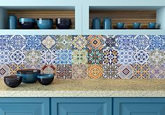 Tile Stickers 24 PC Set Authentic Traditional Talavera Ti...