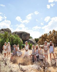 """See the """"The Bridesmaids"""" in our A Rustic Neutral-Palette Outdoor Destination Wedding in California gallery"""