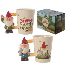 Ceramic Novelty Garden Gnome Shaped Handle Mug Our shaped handle mugs are novel and come in a great range of themes and designs. Made from ceramics they will definitely be a talking point at the dinner table or in the office canteen. Office Canteen, Four Micro Onde, Kitchenware, Tableware, Gnome Garden, Dinner Table, Safe Food, Gnomes, Gifts For Him