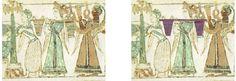 Sarcophage d'Hagia Triada - Detail et comparaion avec le signe 14 du Disque de Phaistos - Disque de Phaistos — Wikipédia
