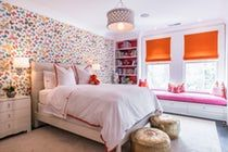Colorful girls bedoom  Bedroom  Transitional by Alisberg Parker Architects