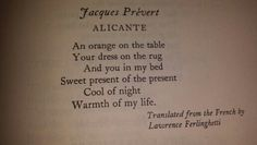 Alicante by Jacques Prevert