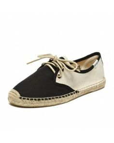 Color Block Lace Up - Black Natural Espadrilles for Women from Soludos - Soludos Espadrilles