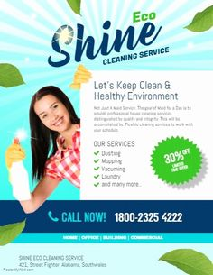 Cleaning Business Flyer Template Beautiful Copy Of Shine Eco Cleaning Service