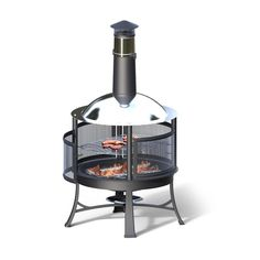 outdoor fireplace 2 in 1 fireplace with barbecue and warm 2 function black color