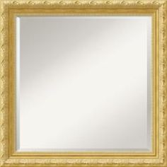 @Overstock - This high-quality, custom-framed mirror features a light gold with a champagne patina frame with a floral trim on the raised outer edge and a filigree pattern on the inner.http://www.overstock.com/Home-Garden/Versailles-Gold-Champagne-Square-Wall-Mirror/5243513/product.html?CID=214117 $126.30