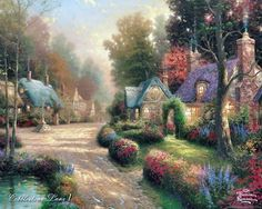 Thomas Kinkade- i absolutely adore all of his work, I am determined to have a Thomas kinkade when I purchase my first home