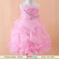 Pink Princess 1st Birthday Dresses - Baby Girl Wedding Dress, Baby New Arrivals, Kids Clothing Collection, Diamond Embellished Dress for any Special Occasion for #pinkblueindia #2yrs #3yrs #4yrs #5yrs