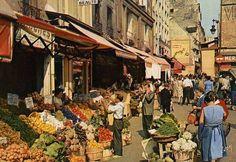 La rue Mouffetard - Paris 5e en 1962.