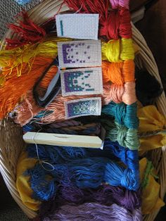 Teaching Handwork: 4th grade cross stitch